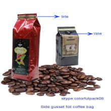 bolsa de grão de café / folha de alumínio bolsa de café / folha bolsas forradas para café