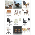 Best seller Red PU Leather office chair/mid back desk chair office furniture