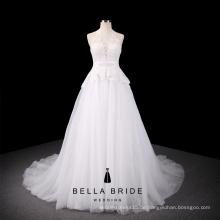 Guangzhou billig Brautkleider Rabatt Brautkleider Eine Linie Halfter einfache Braut Brautkleid