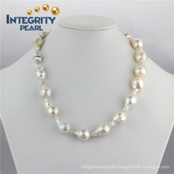 Large Baroque Pearl Necklace 11-15m AA Edison Pearl Necklace Freshwater