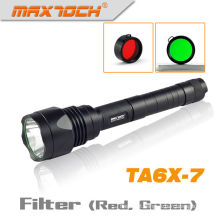 Maxtoch TA6X-7 1000 Lumens Green And Red Filter For Hunting LED Tactical Flashlight