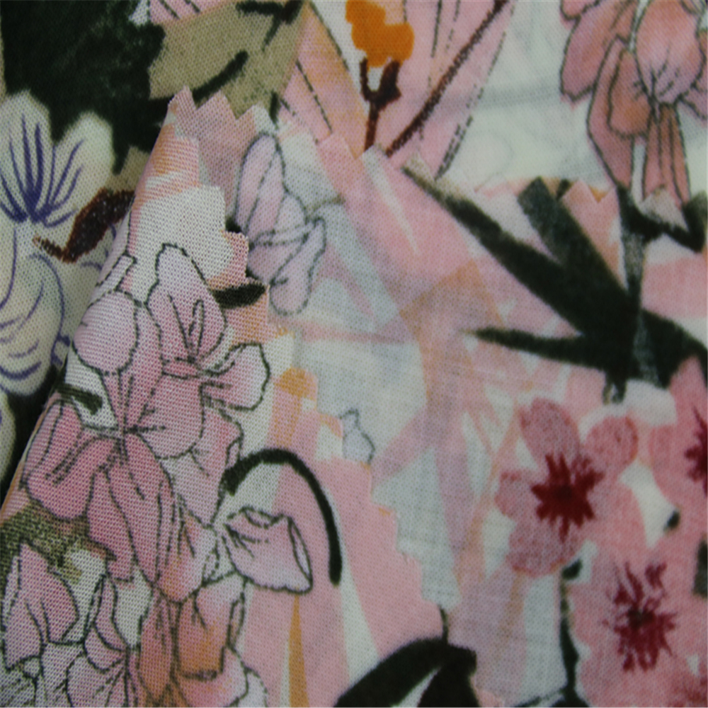 Large Flower Printed Rayon