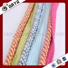 Drei Art Farbe Dekoratives Seil mit Seil für Sofa Dekoration oder zu Hause Dekoration Zubehör, dekorative Schnur, 6mm