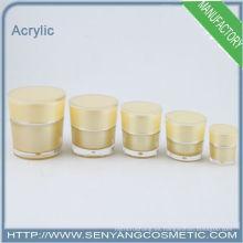 2015 nueva botella cosmética de la crema botellas de acrílico embalaje de acrílico cosmético