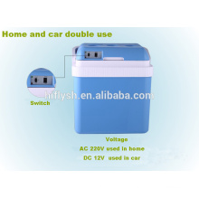 АК-24Л(105) постоянного тока 12В переменного тока 220В 60Вт холодную и горячую двойная польза дома и автомобиля двойного применения автомобильный холодильник(сертификат CE)