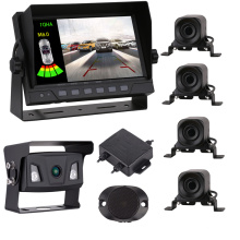 Car Reversing Aid Car Front Rear Reversing Radar Park Sensor System With Camera And Monitor