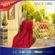 Cosy Electric Throw Blanket com aprovação de certificado para nós mercado