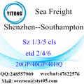 Shenzhen Port Sea Freight Shipping To Southampton