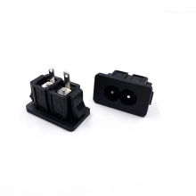 JEC Good Quality Of IEC C8 AC Inlet Wall Socket 2.5A PDU Cabinet Male Socket With Certificate