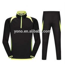2017 nouveau modèle court zip football formation costume à manches longues conception vierge football maillot