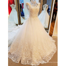 LS81201High neck pearl sleeve bridal dressed high quality wholesale winter clothing pakistani bridal dresses photo