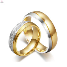 Custom made tungsten western style diamond gold wedding rings, fashion crystal rings jewelry