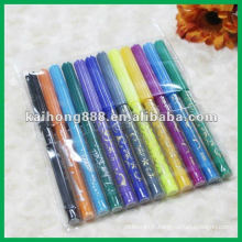 Non toxique eau couleur stylo serti de corps de stylo mince