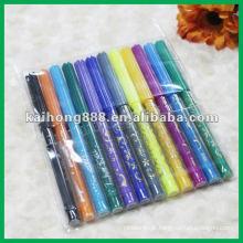 Não tóxico água cor definida caneta com corpo de caneta slim