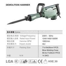 642mm 45J 1500W Heavy-Duty demolição Jack Hammer profissional elétrico pequeno disjuntor Hammer GW8078