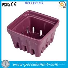 Unique Ceramic Small Fruit Berry Basket