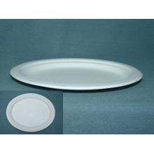 Sugarcane Pulp Bagasse Food Plate Various Sizes and Biodegradable