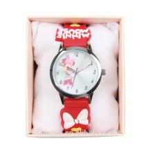 Moda cliente diseño moda muñeca impermeable niños relojes