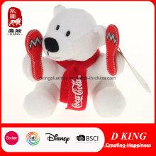 Regalo personalizado de la promoción de los osos de Coca-Cola de la felpa de los deportes