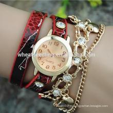 Hembra atractiva piel de serpiente digital mujer reloj de pulsera de fantasía