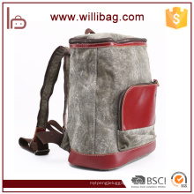 Personality Canvas Leather School Backpack Bag Vintage Backpack