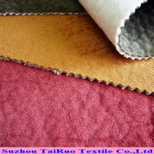 Embossed Suede Velvet Backing Fabric for Home Textile