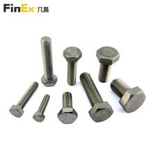 Tornillos hexagonales de acero inoxidable con sujetador de hardware de alta resistencia