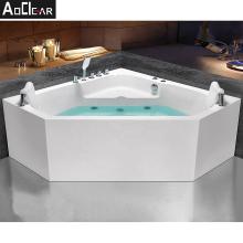 Aoclear whirlpools shape system bathtub underwater led light with bath tub