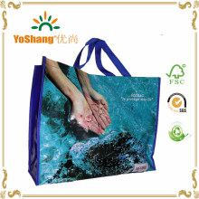 Advertisement Recycled BOPP Laminated Eco Green PP Woven Bag, PP Woven Polypropylene Bag