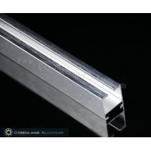 Алюминиевые профили для занавесей с матовым серебристым цветом