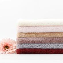 Tecido de lã macio falso de coelho e veludo quente