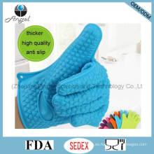 Forro de corazón de cinco dedos de silicona barbacoa guante Sg10
