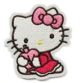 Hallo Kitty gewebte Stickerei Eisen auf Patches