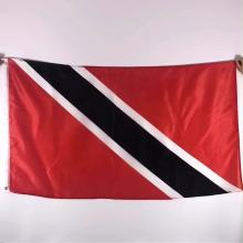 Free sample fast delivery  custom 3x5 feet national banner all country Trinidad and Tobago flag