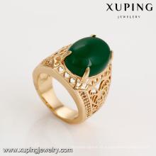 14731 xuping fábrica al por mayor de guangzhou diseños de moda de piedra grande Anillo de joyería venta caliente para mujeres