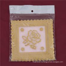 12,5*12,5 см розовый кружевной золото ПВХ теплоизолирующая подставка популярное использование дома/кофе