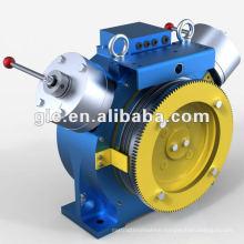 High power gearless elevator motor/traction machine