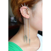 Statement Hanging Individual Ear Cuff Tassels Earrings Jewelry EC35