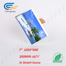 7 Inch Pixel Pitch 0.1506X0.1432 Ili5120 Colour RGB Displays