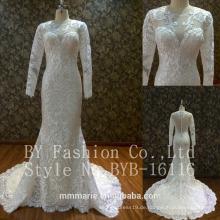 Loverxu Sexy elegante Applikationen Spitze eine Linie Braut Kleider 2017 Vintage Brautkleid