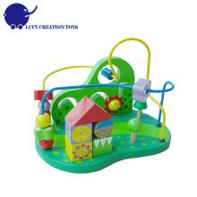 Educational Wooden Garden Roller Coaster Bead Maze Toy