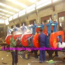 CNC Автоматическая машина sawing диапазона 5 головок древесины ленточная пилорама