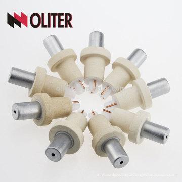 OLITER schnelle Reaktion Platin-Phodium Einweg-hotsale Typ s Einweg-Thermoelement mit 604 Dreieck Boden Hersteller
