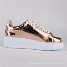 Frauen Schuhe Mirrow PU-Einspritzungs-Schuhe beiläufige Schuhe Rose Gold