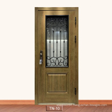 Main Entrance House Simple Gate Grill High Strong Protection Iron Designs with Wrought Iron Branch Security Doors Swing Steel