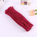 Factory sale Yiwu DIY craft 30cm tinsel pipe cleaner colorful chenille stem for kids