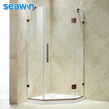 Seawin Shower Cabin Handle Corner Rolling System Glass Shower Door Enclosure With Accessories