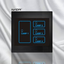 4 Gangs Lighting Touch Switch Acrylic Frame (SK-LT100L4)
