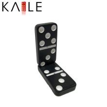 Melamin Schwarz mit weißen Punkten Domino Games Factory