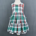 Kids Clothing Plaid  Girl Dress Design 2-10